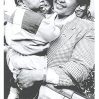 Wini Mandela hos Fisksätra dagis Karpgatan 1990.jpg
